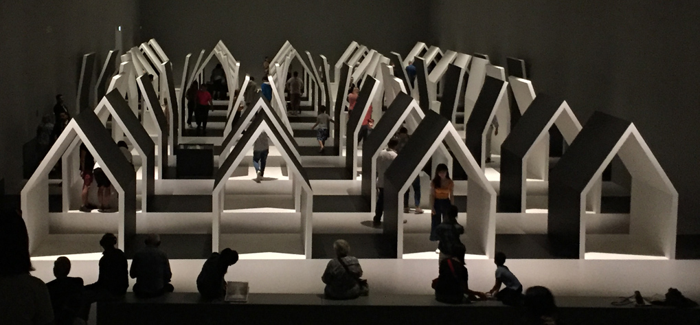 Scintilla Design at Escher x Nendo exhibition big houses NGV Melbourne